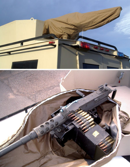 VEHICLE MOUNTED .50 CAL COVER